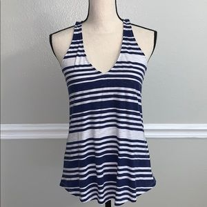 NWOT Lilly Pulitzer navy blue/white tank top